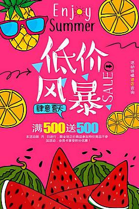 夏季水果促销海报