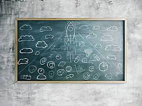 火箭黑板报图片