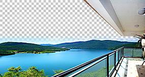 Lac la Montagne Lake Balcony房地产,海报湖畔庄园阳台PNG剪贴画图片