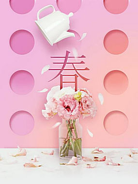 唯美鲜花植物海报 (10)