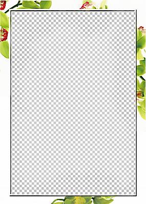 模板,春季花卉装饰边框PNG剪贴画边框,花卉,矩形,婚礼,海报,装饰,图片