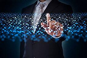 手和虚拟点阵图片