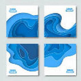 简洁抽象水渍背景海报矢量图片