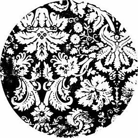 简洁白色花纹圆形背景矢量图片