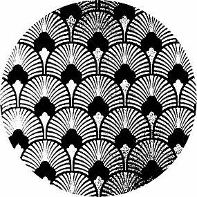 简洁黑色花纹背景矢量图片