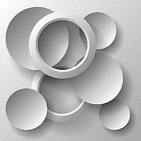 简洁圆形几何中空背景矢量图片