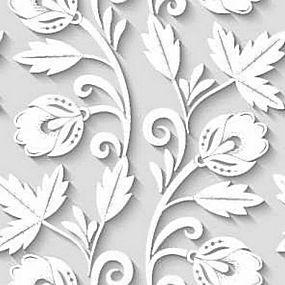 简洁白色花纹背景矢量图片