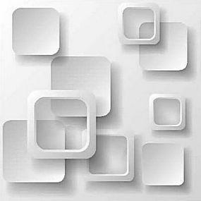 简洁立体几何中空方形组合背景底图矢量图片