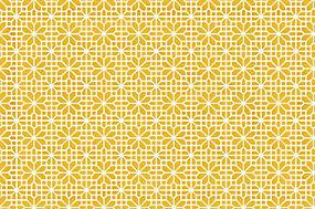 简洁黄色花纹背景矢量图片