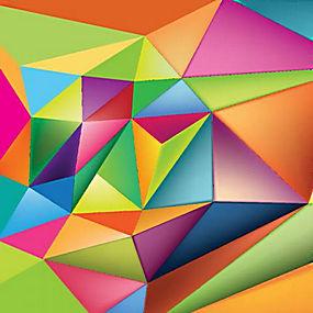简洁多彩几何图像背景底图矢量图片