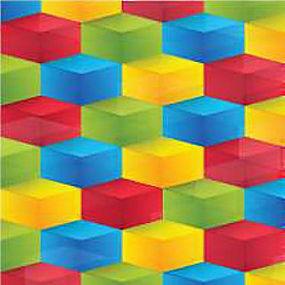 简洁彩色立体方块背景矢量图片
