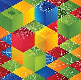 简洁多彩几何菱形底图背景矢量图片