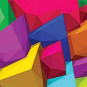简洁几何彩色立体组合背景矢量图片