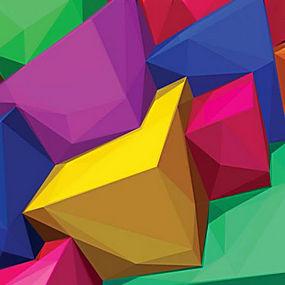 简洁立体几何组合背景矢量图片