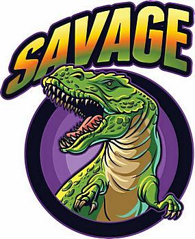 卡通恐龙标志