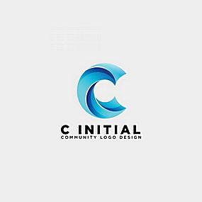 C字母logo设计