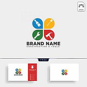 锤子扳手工具logo设计素材