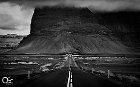 路,悬崖,沙漠,单色,冰岛,景观26762