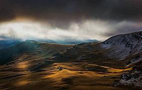 景观,黑暗,云,太阳光线,早上,山,阳光290895