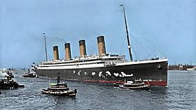 景观,船,船,海,烟囱,抽烟,历史,RMS奥运,轮船,联合王国,彩色照片,