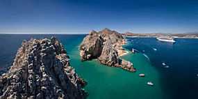 摄影,景观,海,海滩,游轮,船,岩石,卡波圣卢卡斯,鸟瞰图,墨西哥485