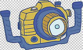相机,潜水工具PNG剪贴画蓝色,角度,施工工具,手,橙色,修复工具,生