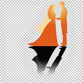 婚礼夫妇,创意婚礼海报PNG剪贴画结婚周年纪念,假期,橙色,电脑壁图片