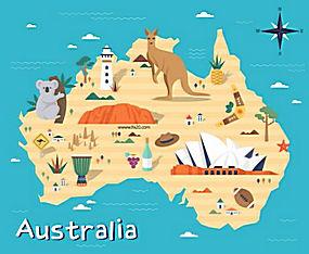国家指南旅游攻略美食名胜风景动物插图AI矢量素材 (1)