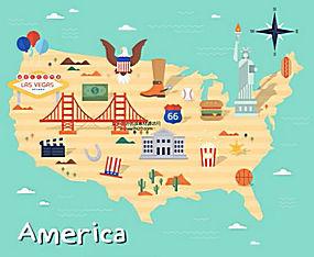 国家指南旅游攻略美食名胜风景动物插图AI矢量素材 (2)