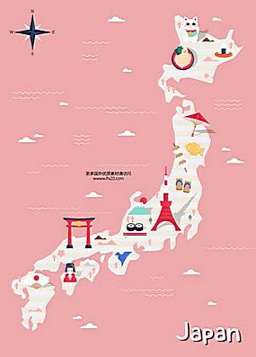 国家指南旅游攻略美食名胜风景动物插图AI矢量素材 (6)