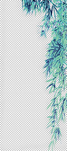 竹清明绿,绿竹叶边框纹理PNG剪贴画边框,纹理,水彩叶子,叶子,分支图片