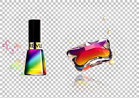 指甲油化妆品海报,彩色指甲油PNG剪贴画颜色飞溅,香水,颜色铅笔,图片