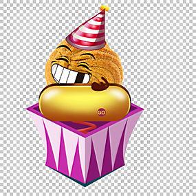 愚人节卡通小丑,创意礼品饼干PNG剪贴画杂项,紫色,食品,海报,礼品图片