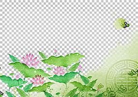 清明,莲花PNG剪贴画水彩画,叶子,电脑壁纸,草,金莲花,花卉,绘画,图片