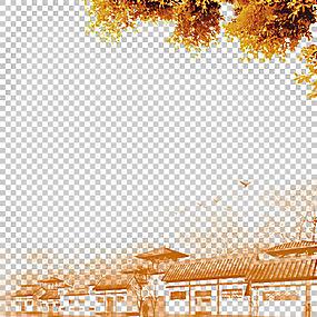 清明节中国风u7d20u6750u516cu793e水墨画,秋季家居PNG剪贴画摄影图片