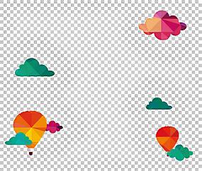 旅行欧几里德插图,酷云,热气球PNG剪贴画叶,云,心,海报,气球,计算图片