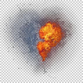 图标,火与水混合PNG剪贴画心,海报,下降,电脑壁纸,封装的PostScri图片