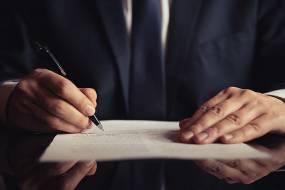 商务人士手写签名图片