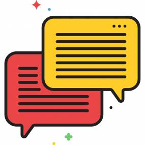 红黄对话框图标图片